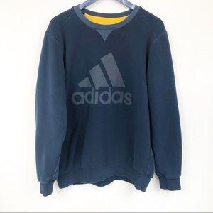 Adidas Navy Blue Logo Pullover Sweatshirt